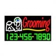 Neon Sign with Phone # - Grooming - Neon Sign with Phone # - Grooming.