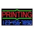 Neon Sign with Phone # - Printing - Neon Sign with Phone # - Printing.