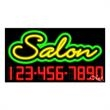 Neon Sign with Phone # -  Salon - Neon Sign with Phone # -  Salon.