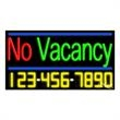 Neon Sign with Phone # - No Vacancy - Neon Sign with Phone # - No Vacancy.