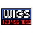 Neon Sign with Phone # - Wigs - Neon Sign with Phone # - Wigs.