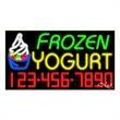 Neon Sign with Phone # - Frozen Yogurt - Neon Sign with Phone # - Frozen Yogurt.