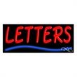 Neon Sign with Custom Lettering - Wave - Neon sign with custom lettering - Wave.
