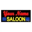 Neon Sign with Custom Lettering - Saloon - Neon sign with custom lettering - Saloon.