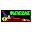 Neon Sign with Custom Lettering - Race Car - Neon sign with custom lettering - Race Car.