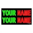Neon Sign with Custom Lettering - 2 Lines - Neon sign with custom lettering - 2 Lines.