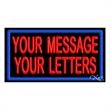 Neon Sign with Custom Lettering - 2 Lines with Border - Neon sign with custom lettering - 2 Lines with Border.