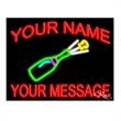 Neon Sign with Custom Lettering - Champagne - Neon sign with custom lettering - Champagne.