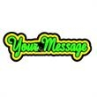 Neon Sign with Custom Lettering - 1 Line with Outline - Neon sign with custom lettering - 1 Line with Outline.