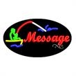 Oval Animated Neon Sign with Custom Lettering - Fishing - Oval Animated Neon Sign with Custom Lettering - Fishing.