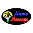 Oval Animated Neon Sign with Custom Lettering - Parachute - Oval Animated Neon Sign with Custom Lettering - Parachute.