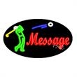 Oval Animated Neon Sign with Custom Lettering - Golf - Oval Animated Neon Sign with Custom Lettering - Golf.