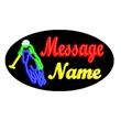 Oval Animated Neon Sign with Custom Lettering - Polo - Oval Animated Neon Sign with Custom Lettering - Polo.