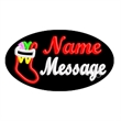 Oval Animated Neon Sign -  Christmas Stocking - Oval Animated Neon Sign with Custom Lettering - Bible.