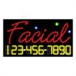 LED Sign with Phone # - Facial - LED Sign with Phone # - Facial.