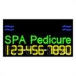 LED Sign with Phone # - Nails Spa Pedicure - LED Sign with Phone # - Nails Spa Pedicure.
