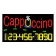 LED Sign with Phone # - Cappuccino - LED Sign with Phone # - Cappuccino.