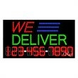 LED Sign with Phone # - We Deliver - LED Sign with Phone # - We Deliver.