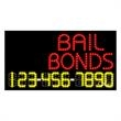 LED Sign with Phone # - 24 Hrs Bail Bonds - LED Sign with Phone # - 24 Hrs Bail Bonds.