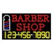 LED Sign with Phone # - Barber Shop - LED Sign with Phone # - Barber Shop.