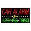 LED Sign with Phone # - Car Alarm - LED Sign with Phone # - Car Alarm.