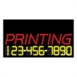 LED Sign with Phone # - Digital Printing - LED Sign with Phone # - Digital Printing.