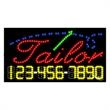 LED Sign with Phone # - Tailor - LED Sign with Phone # - Tailor.