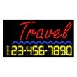 LED Sign with Phone # - Travel - LED Sign with Phone # - Travel.