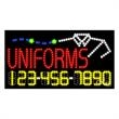 LED Sign with Phone # - Uniforms - LED Sign with Phone # - Uniforms.