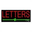 LED Sign with Custom Lettering - Bleep - LED Sign with Custom Lettering - Bleep.