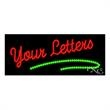 LED Sign with Custom Lettering - Curvy Underline - LED Sign with Custom Lettering - Curvy Underline.