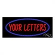 LED Sign with Custom Lettering - Oval Border - LED Sign with Custom Lettering - Oval Border.