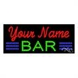 LED Sign with Custom Lettering - Bar - LED Sign with Custom Lettering - Bar.