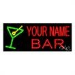 LED Sign with Custom Lettering - Martini Bar - LED Sign with Custom Lettering - Martini Bar.