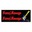LED Sign with Custom Lettering - Guitar - LED Sign with Custom Lettering - Guitar.
