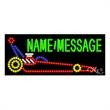 LED Sign with Custom Lettering - Race Car - LED Sign with Custom Lettering - Race car.