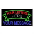 LED Sign with Custom Lettering - 2 Lines with Banner - LED Sign with Custom Lettering - 2 Lines with Banner.