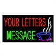 LED Sign with Custom Lettering - Coffee - LED Sign with Custom Lettering -  Coffee.