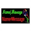 LED Sign with Custom Lettering - Parrot - LED Sign with Custom Lettering - Parrot.