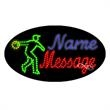 Oval Animated LED Sign with Custom Lettering - Bowling - Oval Animated LED Sign with Custom Lettering - Bowling.