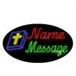 Oval Animated LED Sign with Custom Lettering - Bible - Oval Animated LED Sign with Custom Lettering - Bible.