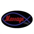 Oval Animated LED Sign with Custom Lettering - Jesus Fish - Oval Animated LED Sign with Custom Lettering - Jesus Fish.