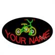 Oval Animated LED Sign with Custom Lettering - Tricycle - Oval Animated LED Sign with Custom Lettering - Tricycle.