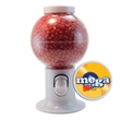 Gumball Machine Dispenser with Cinnamon Red Hots Candy - Gumball machine dispenser with cinnamon red hots candy.