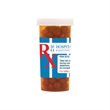 Large Pill Bottle with Cinnamon Red Hots Candy - Large pill bottle with cinnamon red hots candy.