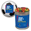 Quart Tin Jelly Beans Candy - Quart tin with jelly bean candy.  These Christmas tins are great as a holiday or corporate food gift.