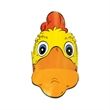 Gallito Chicken Headband - Gallito visor made from 14 pt., high density, white poster board.
