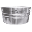 55 qt Galvanized Steel Tub - 55 quart round galvanized metal tub