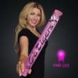 """Fully Wrapped 16"""" Pink LED Foam Cheer Stick - Custom fully wrapped wrapped 16"""" pink LED foam cheer stick. 20 Days & 60 Days Pricing"""