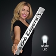 """Fully Wrapped 16"""" White LED Foam Cheer Stick - Custom fully wrapped wrapped 16"""" white LED foam cheer stick. 20 Days & 60 Days Pricing"""
